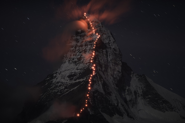 Una foto épica en los Alpes Suizos