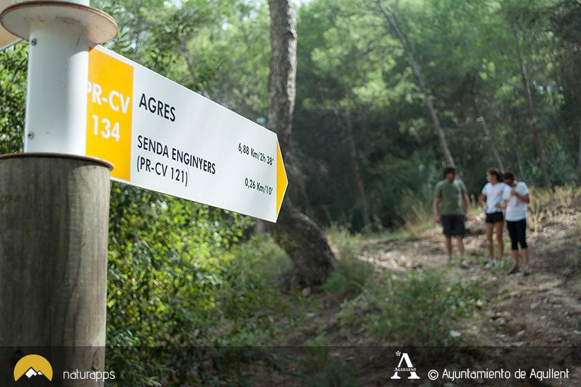 Rutas a pie en el municipio de Agullent