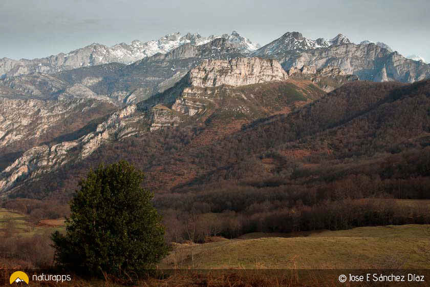 Tiatordos y Picos de Europs desde inicio de la ruta