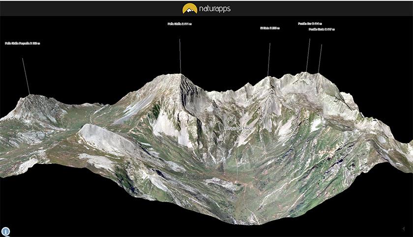 Visor 3D del macizo de Ubiña